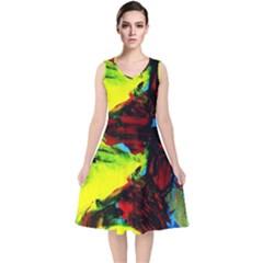 Perfect Night  For Samurai 1 V Neck Midi Sleeveless Dress