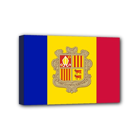National Flag Of Andorra  Mini Canvas 6  X 4