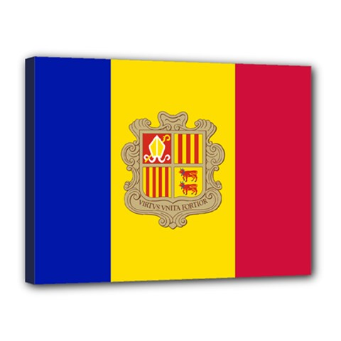 National Flag Of Andorra  Canvas 16  X 12