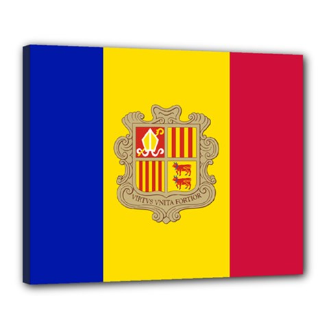 National Flag Of Andorra  Canvas 20  X 16