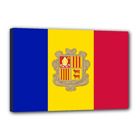 National Flag Of Andorra  Canvas 18  X 12