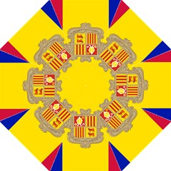 National Flag Of Andorra  Straight Umbrellas