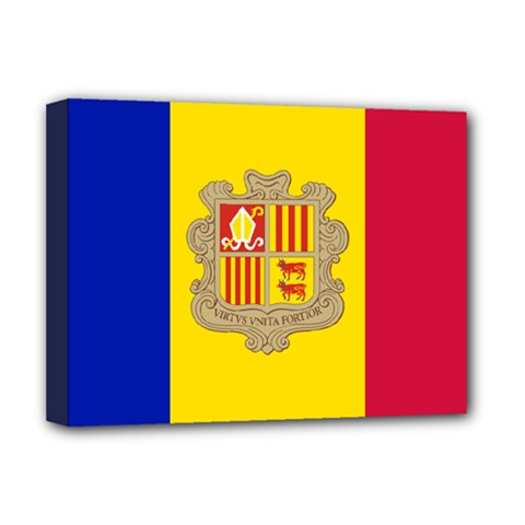 National Flag Of Andorra  Deluxe Canvas 16  X 12