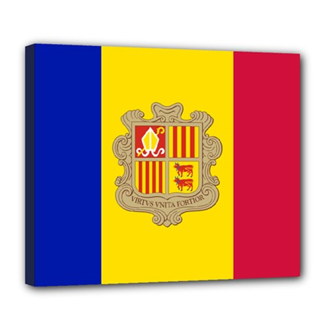 National Flag Of Andorra  Deluxe Canvas 24  X 20