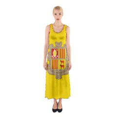 National Flag Of Andorra  Sleeveless Maxi Dress