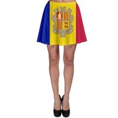 National Flag Of Andorra  Skater Skirt