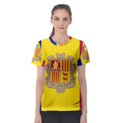 National Flag Of Andorra  Women s Sport Mesh Tee