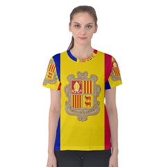 National Flag Of Andorra  Women s Cotton Tee
