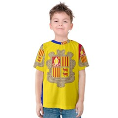 National Flag Of Andorra  Kids  Cotton Tee