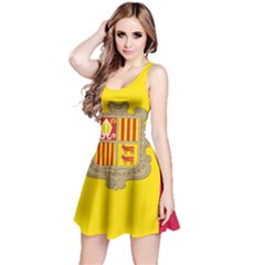 National Flag Of Andorra  Reversible Sleeveless Dress