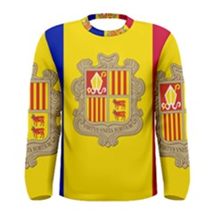 National Flag Of Andorra  Men s Long Sleeve Tee