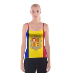 National Flag Of Andorra  Spaghetti Strap Top
