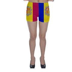 National Flag Of Andorra  Skinny Shorts