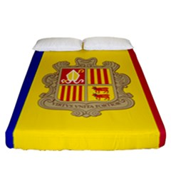 National Flag Of Andorra  Fitted Sheet (california King Size)