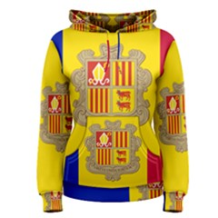 National Flag Of Andorra  Women s Pullover Hoodie