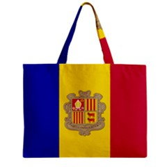 National Flag Of Andorra  Zipper Mini Tote Bag