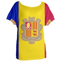National Flag Of Andorra  Women s Oversized Tee