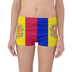 National Flag Of Andorra  Boyleg Bikini Bottoms