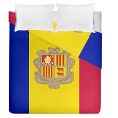 National Flag Of Andorra  Duvet Cover Double Side (queen Size)