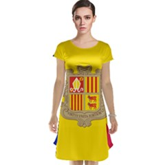 National Flag Of Andorra  Cap Sleeve Nightdress