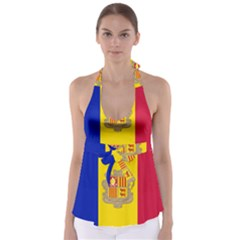 National Flag Of Andorra  Babydoll Tankini Top
