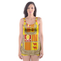National Flag Of Andorra  Skater Dress Swimsuit