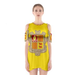 National Flag Of Andorra  Shoulder Cutout One Piece