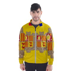 National Flag Of Andorra  Wind Breaker (men)