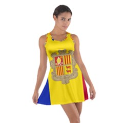 National Flag Of Andorra  Cotton Racerback Dress