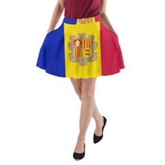 National Flag Of Andorra  A Line Pocket Skirt