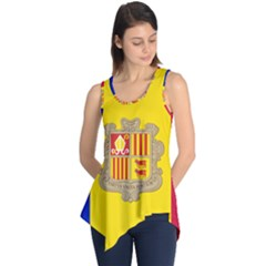 National Flag Of Andorra  Sleeveless Tunic