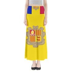 National Flag Of Andorra  Full Length Maxi Skirt