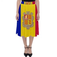 National Flag Of Andorra  Folding Skater Skirt