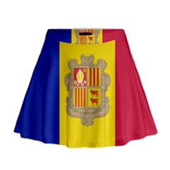 National Flag Of Andorra  Mini Flare Skirt