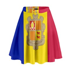 National Flag Of Andorra  High Waist Skirt