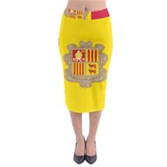 National Flag Of Andorra  Midi Pencil Skirt