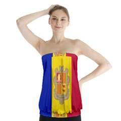 National Flag Of Andorra  Strapless Top