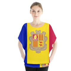 National Flag Of Andorra  Blouse