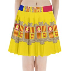 National Flag Of Andorra  Pleated Mini Skirt