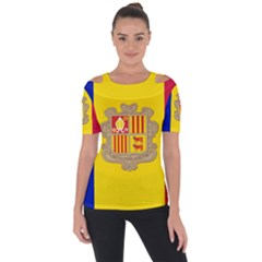 National Flag Of Andorra  Short Sleeve Top