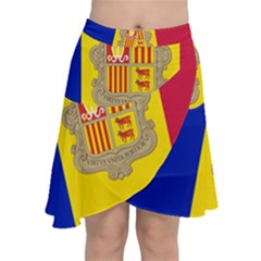 National Flag Of Andorra  Chiffon Wrap