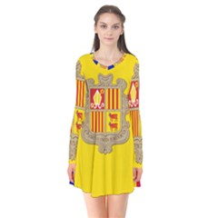 National Flag Of Andorra  Flare Dress