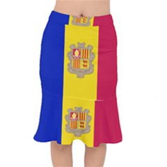 National Flag Of Andorra  Mermaid Skirt