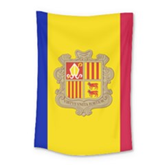 National Flag Of Andorra  Small Tapestry