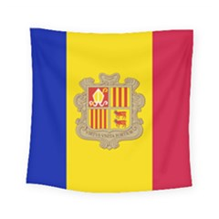 National Flag Of Andorra  Square Tapestry (small)