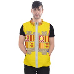 National Flag Of Andorra  Men s Puffer Vest
