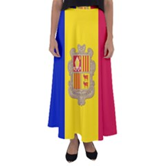 National Flag Of Andorra  Flared Maxi Skirt