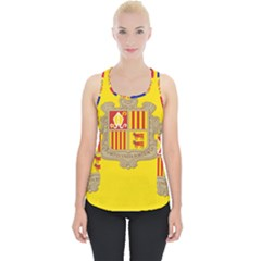 National Flag Of Andorra  Piece Up Tank Top