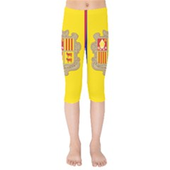 National Flag Of Andorra  Kids  Capri Leggings