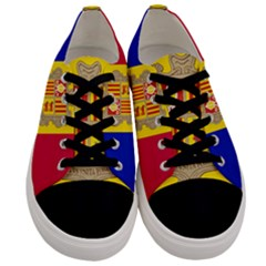 National Flag Of Andorra  Men s Low Top Canvas Sneakers